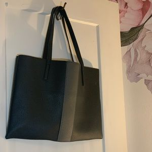 Vince Camuto black and grey tote